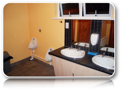 Rushin House Caravan Park - Male Toilets and Sink