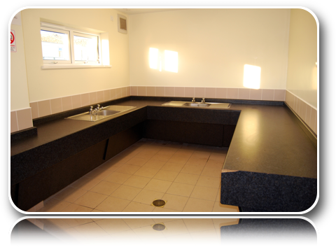 Toilet Block - Washing Up Room Basins-Carrick-Dhu-Caravan-Park-Review
