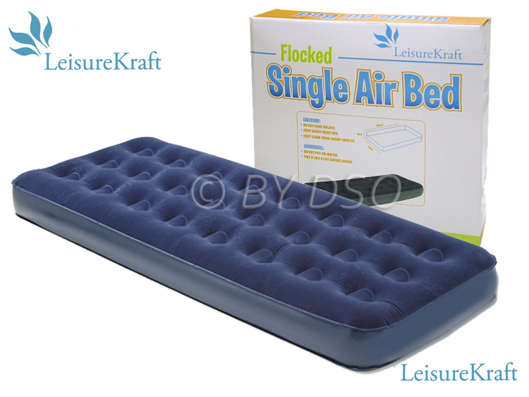 Leisure Kraft Flocked Single Air Bed 185 x 72cm
