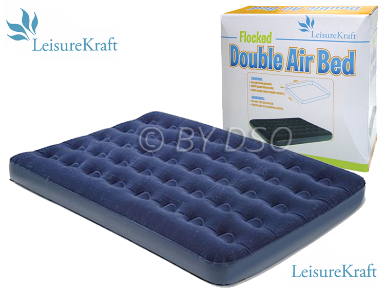 Leisure Kraft Flocked Double Air Bed 185 x 138cm - NEW